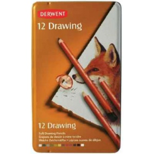Derwent Drawing Pencil 12-Color Tin Set; Color: Multi; Type: Drawing; (model 0700671), price per set