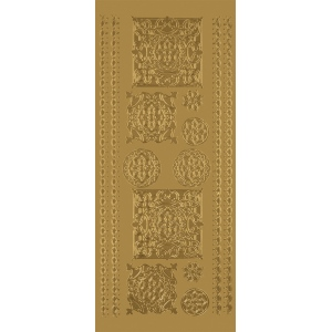 "Blue Hills Studio™ DesignLines™ Outline Stickers Gold #33; Color: Metallic; Size: 4"" x 9""; Type: Outline; (model BHS-DL033), price per pack"
