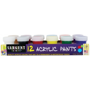 Sargent Art® Premier Acrylic Paint Set: Multi, Jar, Acrylic, (model 665421), price per set