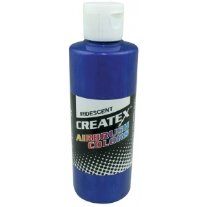 Createx™ Airbrush Paint 2oz Iridescent Electric Blue: Blue, Bottle, 2 oz, Airbrush, (model 5505-02), price per each