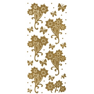 "Blue Hills Studio™ DesignLines™ Outline Stickers Gold #11: Metallic, 4"" x 9"", Outline, (model BHS-DL011), price per pack"