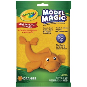 Crayola® Model Magic® Single Pack 4oz Orange: Orange, 4 oz, Craft, (model 57-4436), price per each