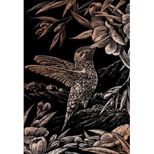 "Royal & Langnickel® Engraving Art Set Copper Foil Hummingbird: 8"" x 10"", Metallic, (model COPF17), price per set"