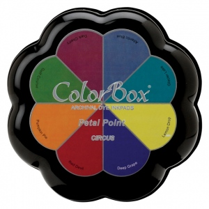 ColorBox® Petal Point Circus Ink Set: Multi, Pad, Dye-Based, Petal Points, (model CS27302), price per each
