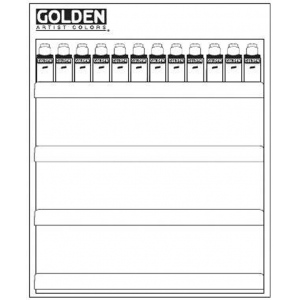 "Golden Fluid Acrylic Color Paint Conversion Kit Display Assortment: 24""w x 30""h"