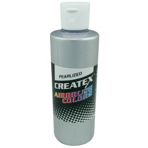 Createx™ Airbrush Paint 4oz Pearlescent Silver; Color: Metallic; Format: Bottle; Size: 4 oz; Type: Airbrush; (model 5308-04), price per each