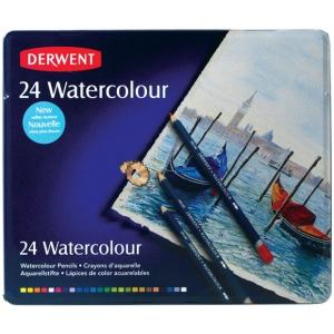 Derwent Watercolor Pencil 24-Color Tin Set; Color: Multi; Type: Watercolor; (model 32883), price per set