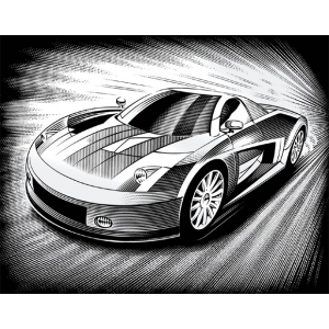 "Reeves™ Scraperfoil™ Scraperfoil Car; Color: Metallic; Size: 8"" x 10""; (model PPSF44), price per each"