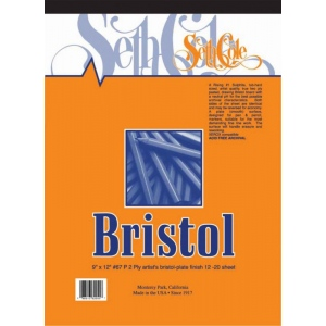 "Seth Cole 14"" x 17"" Smooth Finish Bristol Board Pad; Finish: Smooth; Format: Pad; Quantity: 12 Sheets; Size: 14"" x 17""; Weight: 100 lb; (model SC67PB), price per 12 Sheets pad"