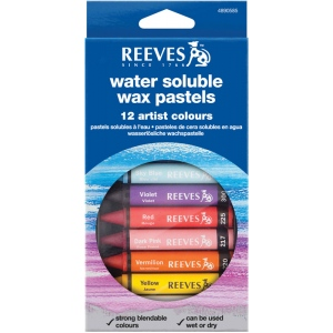 Reeves™ Water Soluble Wax Pastel 12-Color Set: Multi, Stick, Wax, (model 4890585), price per set