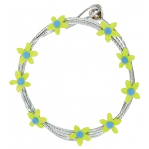 """Mishu Mighty Magnet Photo Cable Lime Flowers; Color: Green; Length: 57""""; Shape: Flower; Type: Cable; (model M086), price per each"""