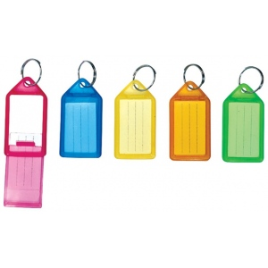 Helix® Small Key Tags; Color: Multi; Material: Plastic; Type: Key Tags; (model H31315), price per pack