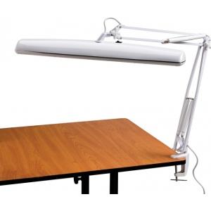 Alvin® Tri-Fluorescent Task Lamp White; Color: White/Ivory; Type: Clamp; Wattage: 26-75w; (model FL545-D), price per each