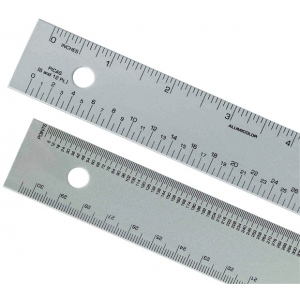 "Alumicolor® 12"" Aluminum Ruler; Color: Metallic; Material: Aluminum; Size: 12""; Type: Ruler; (model 4240-1), price per each"