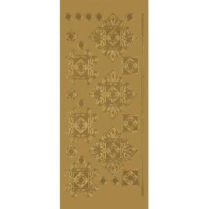 "Blue Hills Studio™ DesignLines™ Outline Stickers Gold #35; Color: Metallic; Size: 4"" x 9""; Type: Outline; (model BHS-DL035), price per pack"