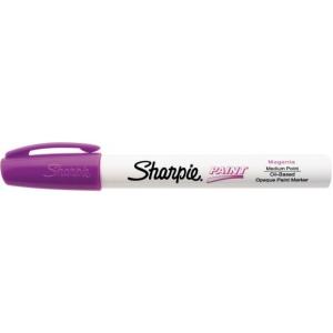 Sharpie® Oil Paint Marker Medium Magenta; Color: Red/Pink; Ink Type: Paint; Tip Type: Medium Nib; (model SN35562), price per each