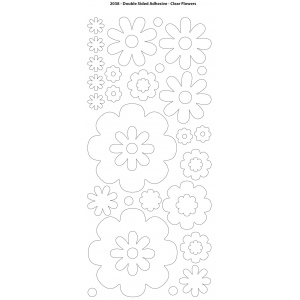 """Dazzles™ Double Stick Flowers: Black/Gray, 1 Sheet, Patterned, 4"""" x 9"""", Double-Stick, (model HOTP2038), price per each"""