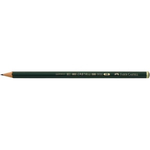 Faber-Castell® 9000 Black Lead Pencil 2H; Color: Black/Gray; Degree: 2H; (model FC119012), price per dozen (12-pack)