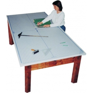 Speedpress Super Size Protective Cutting Mat with Imprinted Grid: 4' x 8'