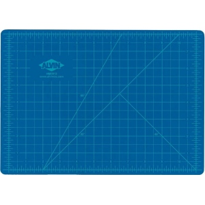 "Alvin® HM Series Blue/Gray Self-Healing Hobby Mat 8 1/2 x 12; Color: Black/Gray, Blue; Grid: Yes; Material: Vinyl; Size: 8 1/2"" x 12""; Thickness: 2mm; Type: Cutting Mat; (model HM0812), price per each"