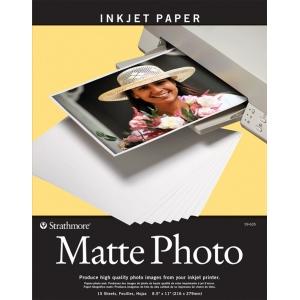"Strathmore® 8.5"" x 11"" Matte Inkjet Paper: White/Ivory, 15 Sheets, 8 1/2"" x 11"", Matte, (model ST59-635), price per 15 Sheets"