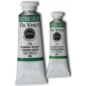 Da Vinci Artists' Watercolor Paint 37ml Viridian Green; Color: Green; Format: Tube; Size: 37 ml; Type: Watercolor; (model DAV290), price per tube