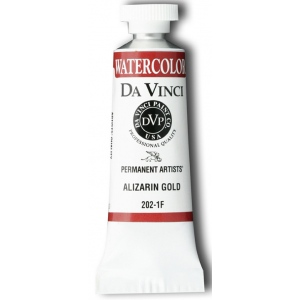 Da Vinci Artists' Watercolor Paint 15ml Alizarin Gold; Color: Metallic; Format: Tube; Size: 15 ml; Type: Watercolor; (model DAV202-1F), price per tube