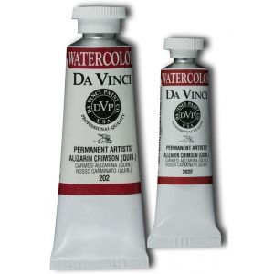 Da Vinci Artists' Watercolor Paint 37ml Alizarin Crimson ; Color: Red/Pink; Format: Tube; Size: 37 ml; Type: Watercolor; (model DAV202), price per tube