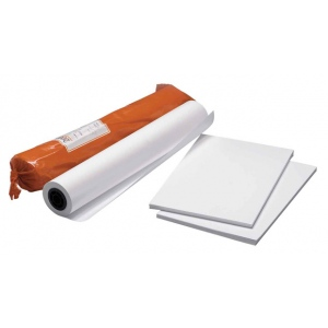 "Clearprint® 3020IJ 18"" x 24"" Bright White Opaque Bond Plotter Sheets; Color: White/Ivory; Format: Sheet; Quantity: 100 Sheets; Size: 18"" x 24""; Weight: 20 lb; (model CP33201522), price per each"