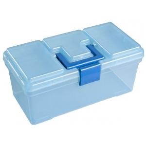 """Heritage Arts™ Art Tool Box: Blue, Plastic, 7 1/2""""d x 15""""w x 7""""h, (model HPB1008), price per each"""