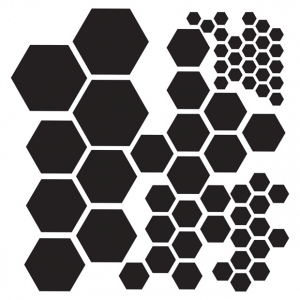 """The Crafter's Workshop 6"""" x 6"""" Design Template Hexagons; Color: Clear; Size: 6"""" x 6""""; Type: Patterned Stencil; (model TCW324S), price per each"""