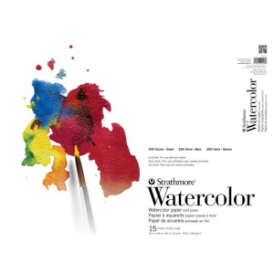 "Strathmore 200 Series Tape Bound Watercolor Pad: 11"" x 15"", 15 Sheets"