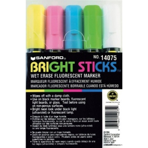 Sanford® Bright Sticks™ 5-Color Marker Set: Multi, (model SN14075), price per set