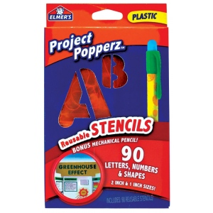 "Elmer's® Project Popperz™ Reusable Stencil Set: 90-Pack, 1"", 2"", (model E3062), price per each"