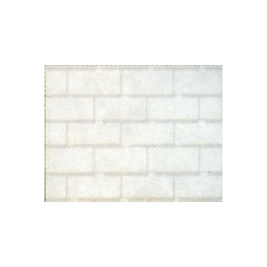 "Architectural Model-Building Material: Roofing/3 in 1/White, 5 1/2"" x 16 1/8"" Sheet"