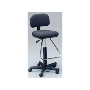 Martin Lafayette Drafting Height Seating Chair: Black