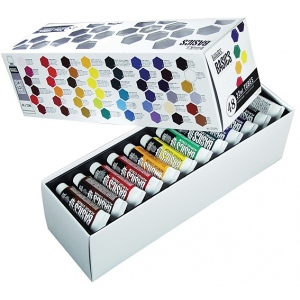 Liquitex® Basics Acrylic 48-Color Set; Color: Multi; Format: Tube; Size: 22 ml; Type: Acrylic; (model 101048), price per set