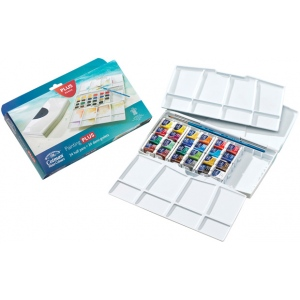 Winsor & Newton™ Cotman™ Watercolor Painting Plus 24-Color Set: Multi, Pan, Watercolor, (model 0390376), price per set