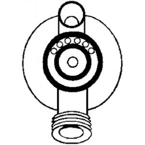 Paasche Fluid Body, Stainless Steel: Standard