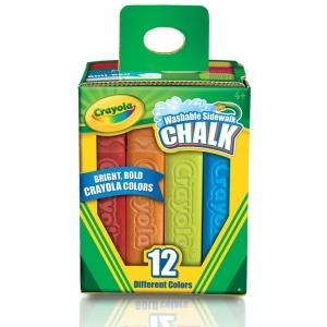 Crayola® Sidewalk Chalk 12-Color Set; Color: Multi; Format: Stick; (model 51-2012), price per set