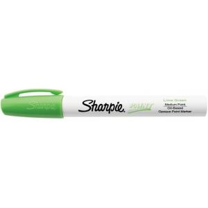 Sharpie® Oil Paint Marker Medium Lime; Color: Green; Ink Type: Paint; Tip Type: Medium Nib; (model SN35561), price per each