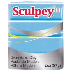 Sculpey® III Polymer Clay Blue Pearl; Color: Blue; Format: Bar; Material: Polymer; Size: 2 oz; (model S3021103), price per each