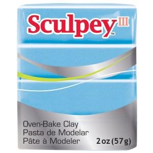 Sculpey® III Polymer Clay Blue Pearl: Blue, Bar, Polymer, 2 oz, (model S3021103), price per each