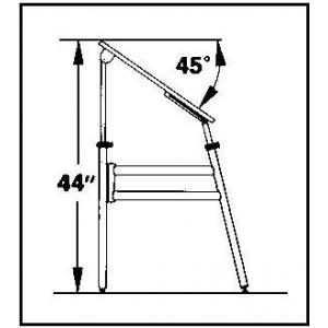 "Alvin® Opal Table Black Base White Top 24"" x 36"": 0 - 45, Black/Gray, Steel, 29"" - 44"", White/Ivory, Melamine, 24"" x 36"", (model OP36-3), price per each"