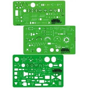 Rapidesign® Electrical/Electronic Template: 3-Pack, (model 300R), price per set