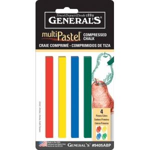 General's® MultiPastel® Compressed Sticks Primary; Color: Multi; Format: Stick; (model 9405ABP), price per set
