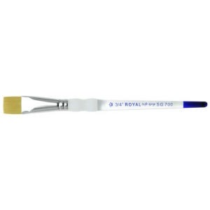 Royal & Langnickel® Soft Grip™ Brush Glaze Wash 1/2: Gold Taklon, Glaze, 1/2, Acrylic, Oil, Watercolor, (model RSG700-1/2), price per each