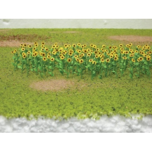 "Wee Scapes™ Architectural Model Sunflowers; Color: Yellow; Coverage: 150 sq in; Quantity: 8-Pack; Size: 1""; Type: Flowers; (model WS00313), price per 8-Pack"