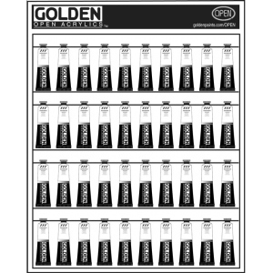 "Golden Open Acrylic Color Paint Display Assortment: 24""w x 30""h"