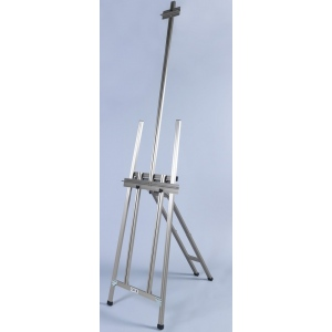Martin Ambiente Maxum H-Frame Easel: Natural Aluminum, Model # 92-20501